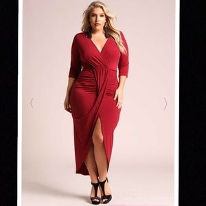 Deb Dresses - NWT Plus Size Draped Layered Slit Maxi Dress